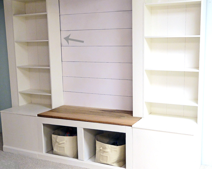 Remodelaholic Diy Built In Media Wall Unit With Extra