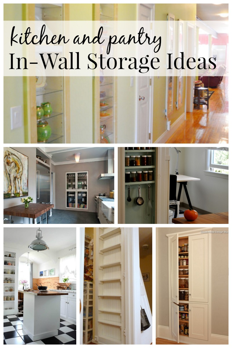 Exceptionnel Kitchen And Pantry In Wall Storage Ideas Via Remodelaholic.com