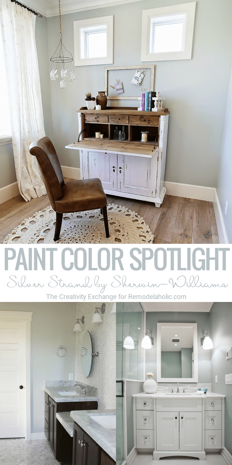 Remodelaholic | Color Spotlight: Silver Strand by Sherwin-Williams