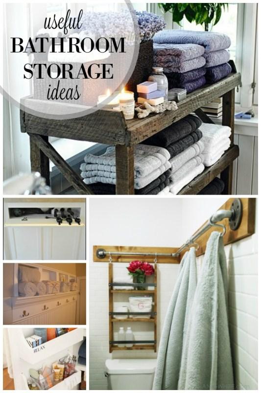 Useful Bathroom storage ideas