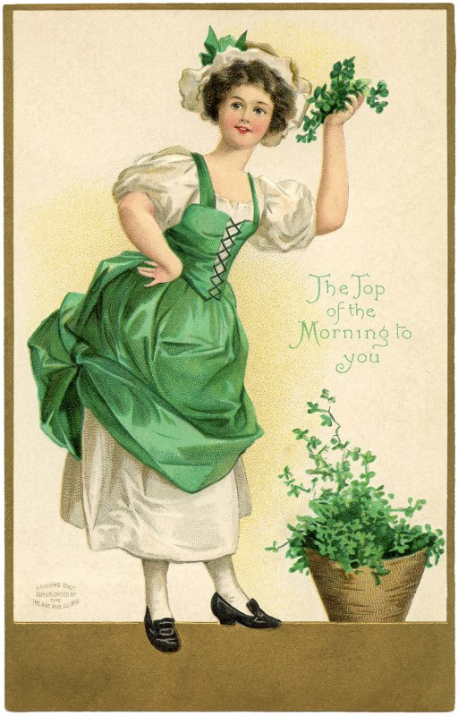 Vintage St. Patrick's Day decorations from the Graphics Fairy via Remodelaholic