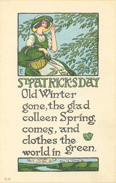 Vintage St. Patrick's Day images, free printables from Sweetly Scrapped on Remodelaholic