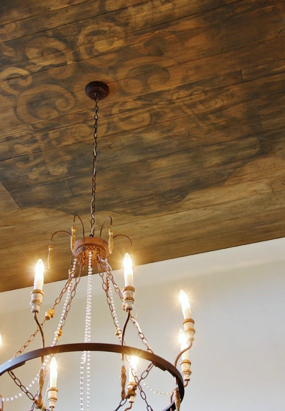 amazing rustic wood ceiling