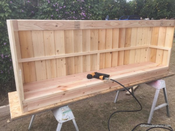 build a farmhouse style planked x tv console or sideboard @Remodelaholic (17)