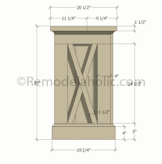 farmhouse console sideboard table plans-1 @remodelaholic (1) updated