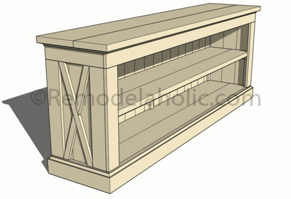 farmhouse console sideboard table plans-1 @remodelaholic (15)