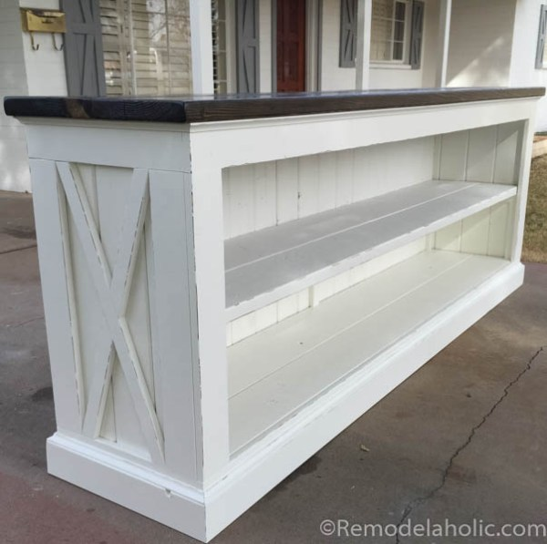 TV console sideboard table plans @remodelaholic.com-6