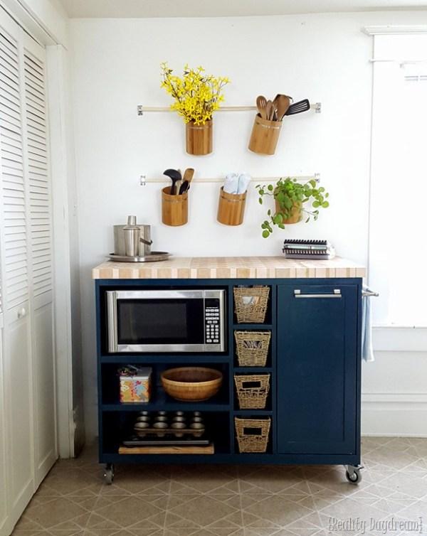 custom rolling DIY kitchen island Reality Daydream