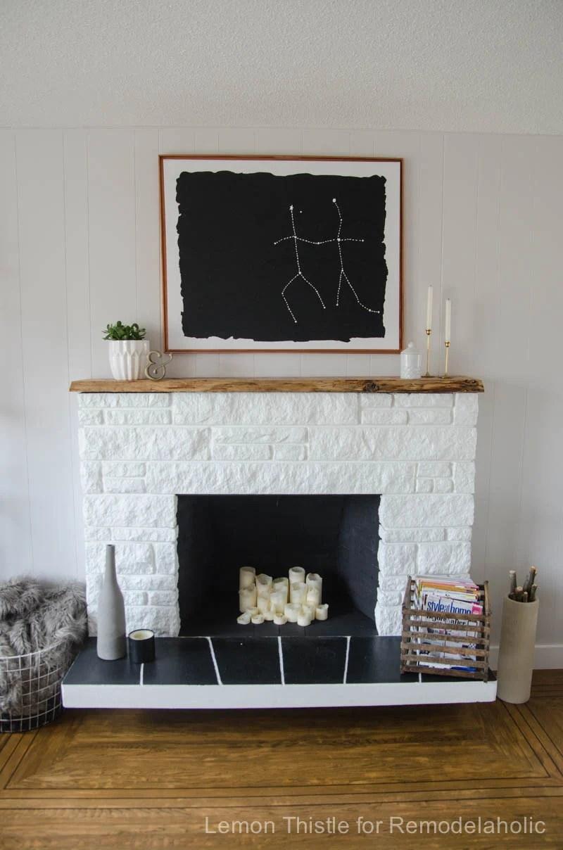 White Wash Wood Headboard