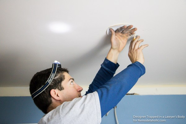 how to install recessed lights with a remodel housing