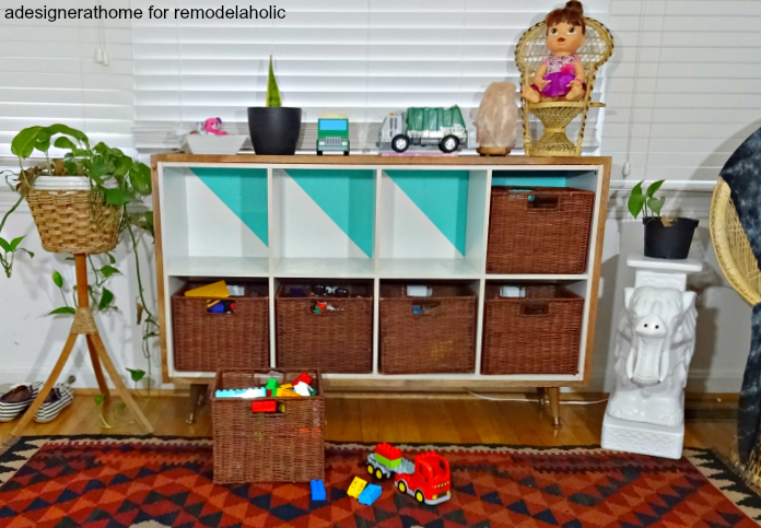 retro inspired toy storage unit for the DIY impaired