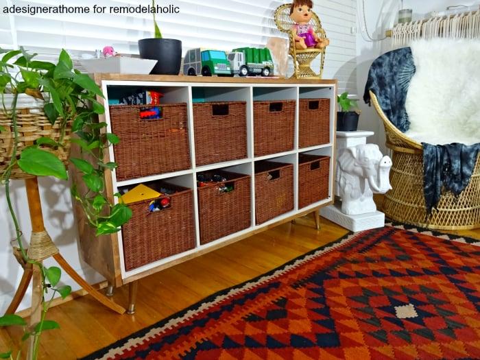traditional kids storage with a twist