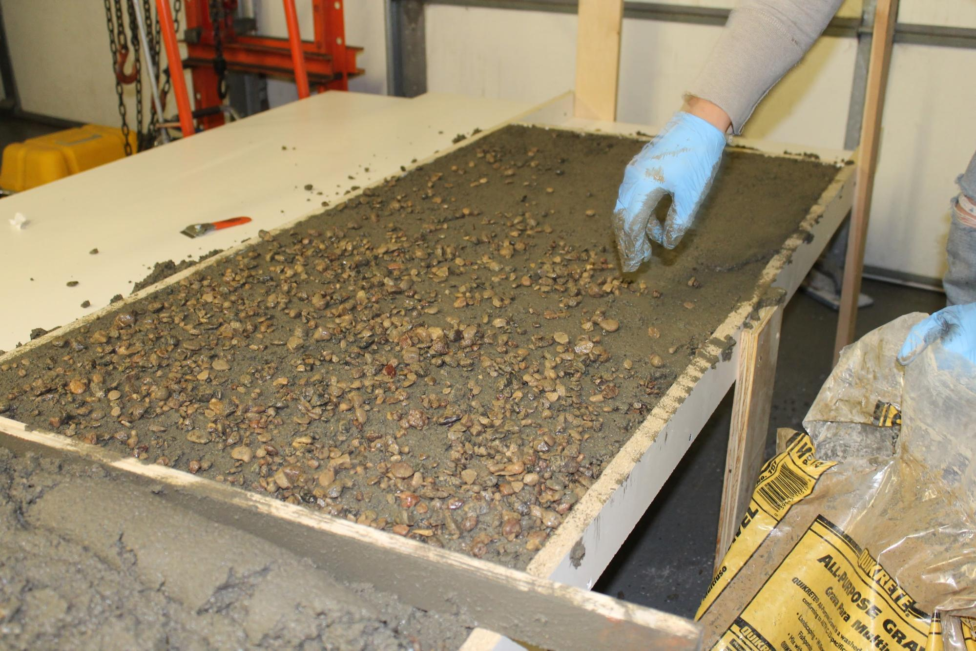 of concrete poured countertops place countertop in building forms