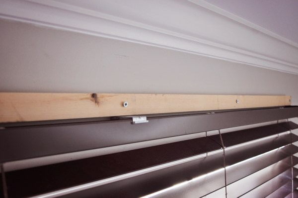 how to hang a wood window cornice box
