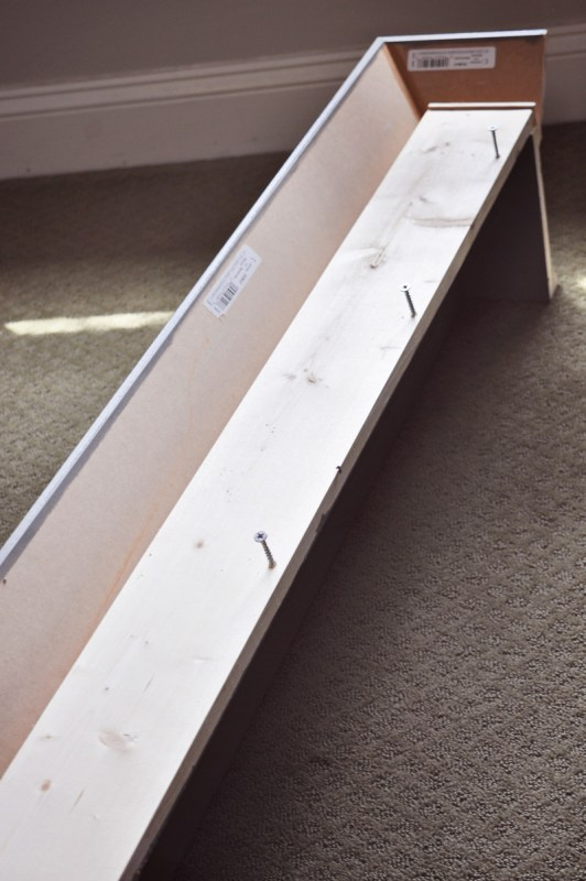 DIY Window Cornice | detailed step-by-step photo tutorial to build and hang a wood window cornice, on Remodelaholic.com