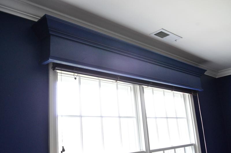 DIY Window Cornice | detailed step-by-step photo tutorial to build a window cornice, on Remodelaholic.com
