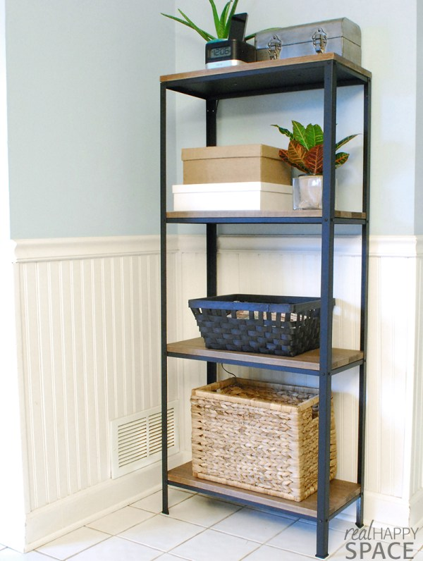 Functional decor on a budget, ikea hack, by Real Happy Space featured on @Remodelaholic