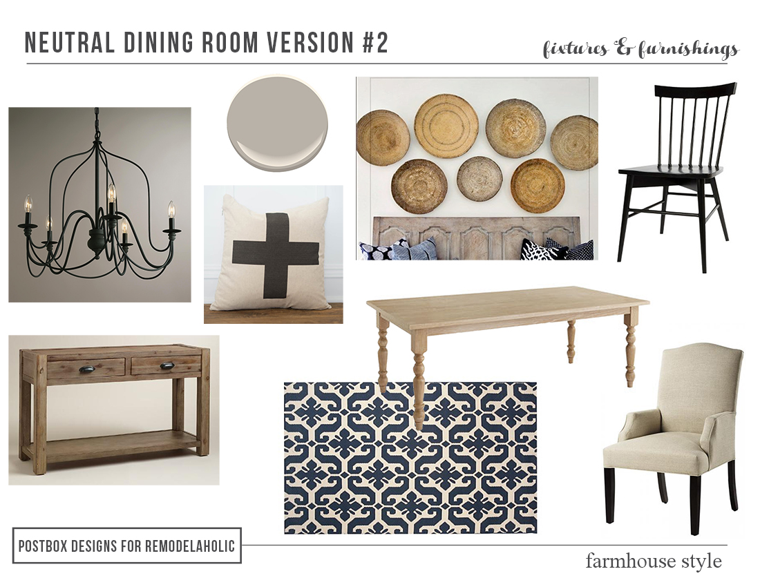 High Low Farmhouse Dining Rooms