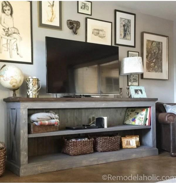 Build a Farmhouse Style TV Console Sideboard