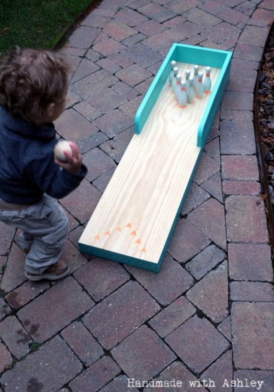 DIY Indoor Outdoor Bowling Lane