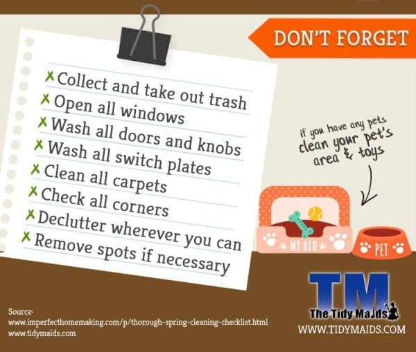 Don't forget these spring cleaning tips and tricks