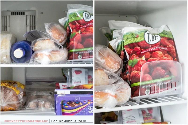 Fridge Organizing Tips- Freezer space tips