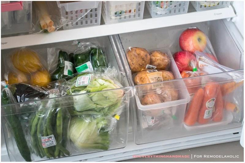 Fridge Organizing Tips- Veggie Storage
