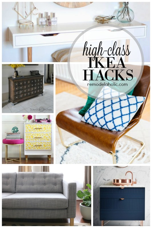 High-Class IKEA Hacks featured on Remodelaholic.com