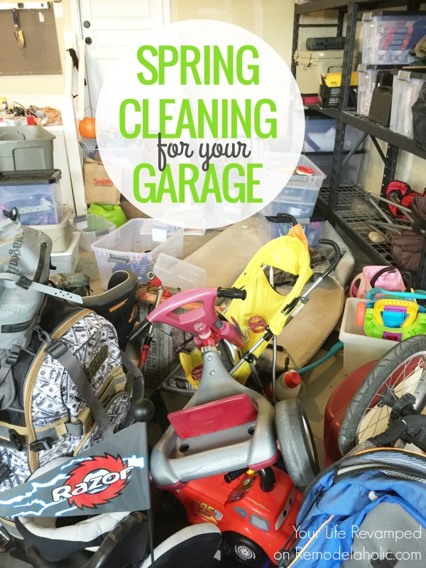 How to Spring Clean Your Garage (and keep it clean!) @remodelaholic