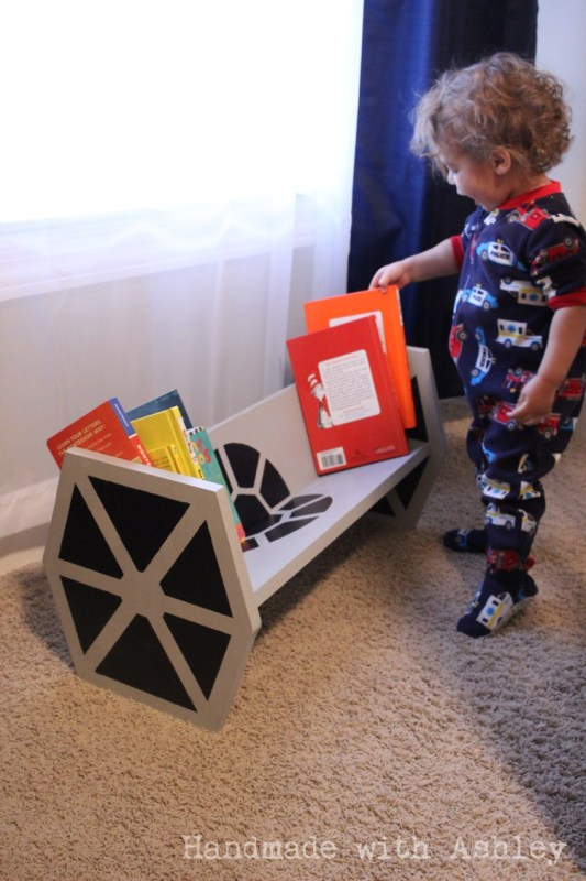 How to build a Star Wars tie fighter bookshelf for kids Ashley Grenon
