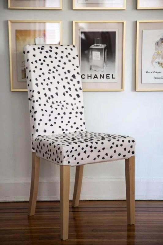 IKEA Hack Slipcover Chair Black Dots Little Green Notebook