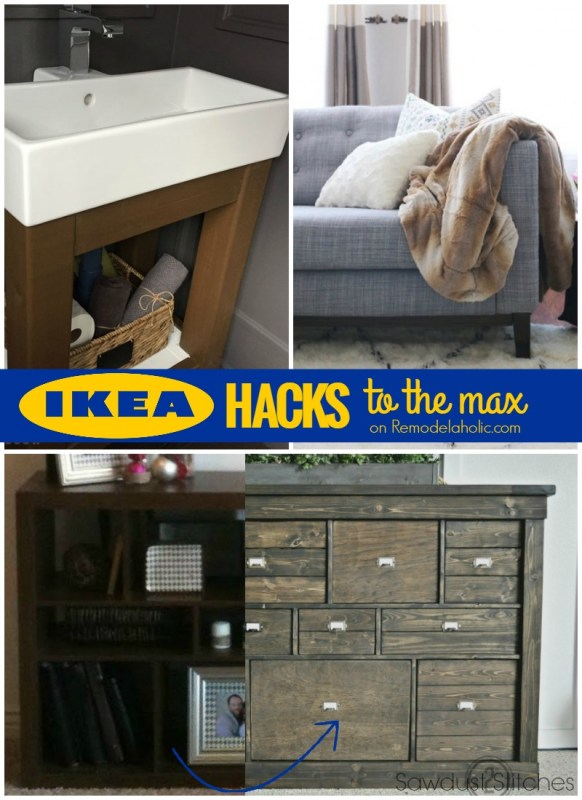 IKEA Hacks to the Max -- all the best IKEA hacks on @Remodelaholic