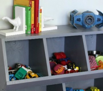 How to Build A Toy Cubby Shelf + Boy's Room Makeover