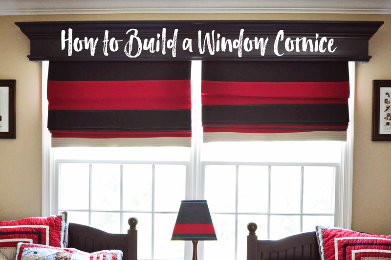 DIY Window Cornice | detailed step-by-step photo tutorial to build and hang a window cornice