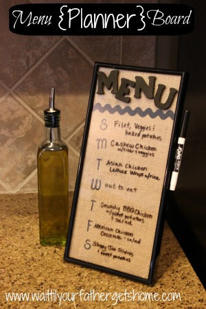 menu planner board