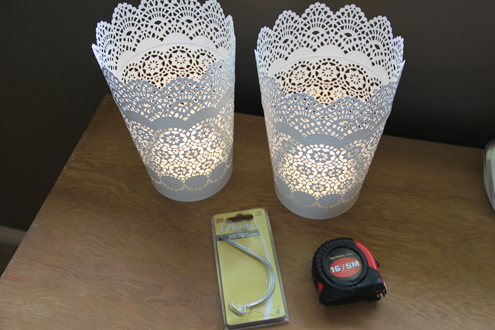 easy diy cordless wall lamp or sconce how-to