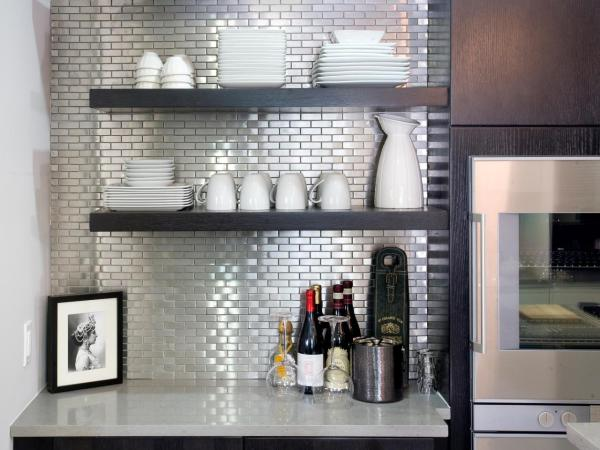 stainless steel backsplash tiles HGTV