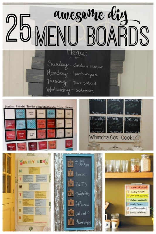 25 awesome diy menu boards featured on remodelaholic.com