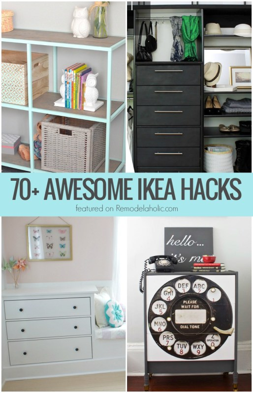 70 Awesome IKEA Hacks and Projects That Are TOTALLY Worth Trying @Remodelaholic