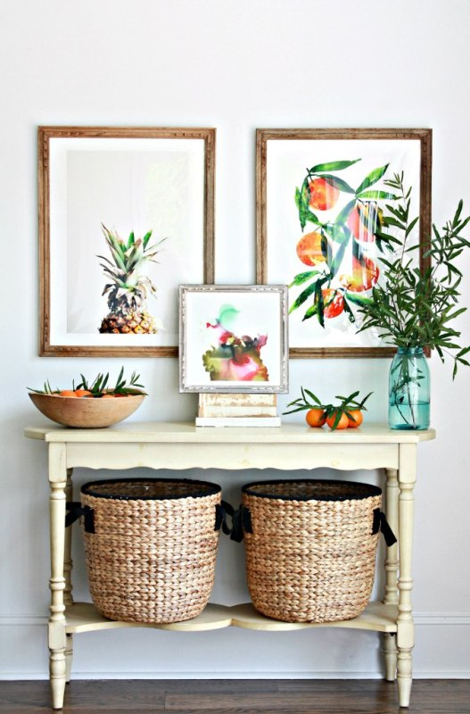 Texture + art | Modern Tropical Style on Remodelaholic.com