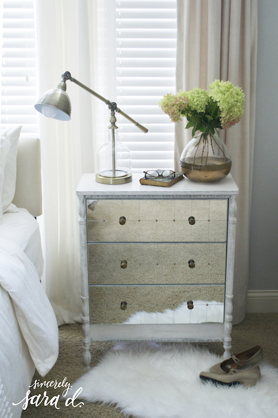 Beautiful DIY mirrored IKEA Rast chest hack, Sincerely Sara D on @Remodelaholic