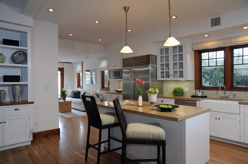 Choosing paint colors that work well with wood trim and flooring.