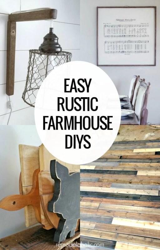Easy Rustic Farmhouse DIYs on Remodelaholic.com