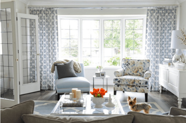 Floral Accent Chair Living Room Houzz