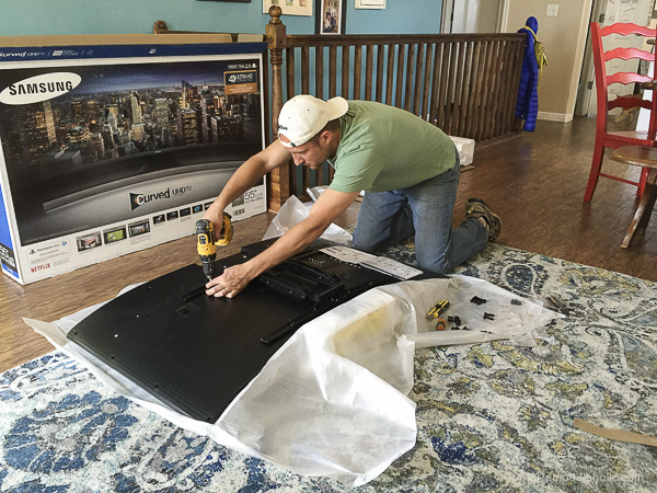 Remodelaholic How To Hang A Curved Tv On The Wall