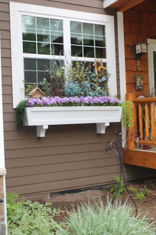 diy window box planter tutorial