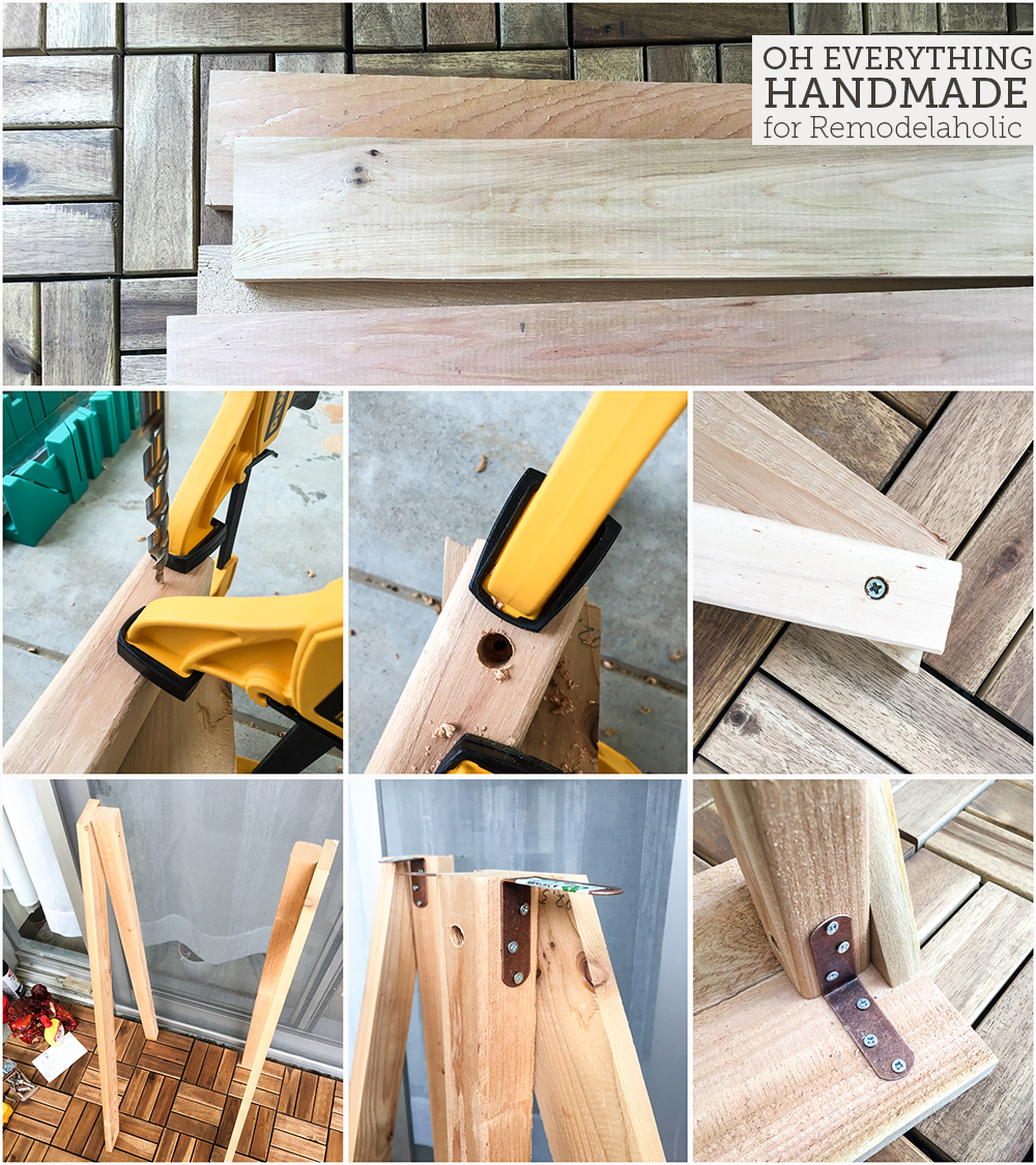 Ladder Plant Stand by OEH- Building instructions - How to put together the legs