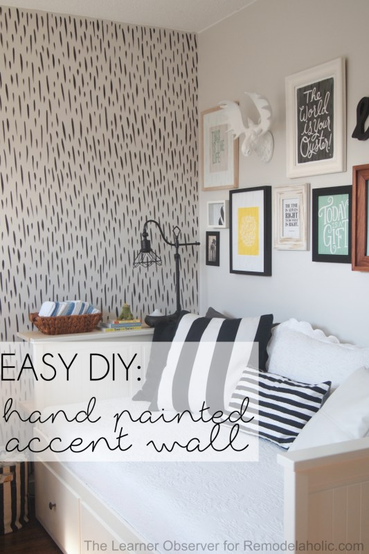 Remodelaholic   Easy DIY Hand Painted Brushstroke Accent Wall