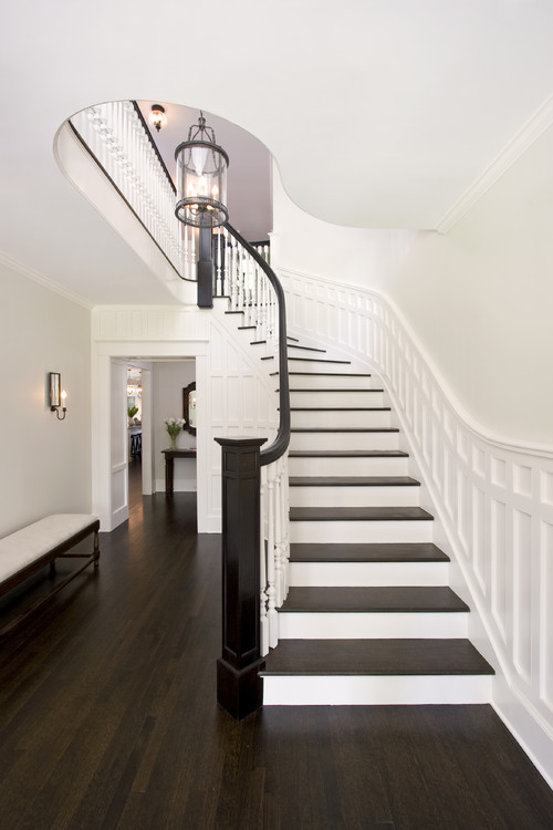 Paint colors for wood floors and trim: Atrium White Benjamin Moore
