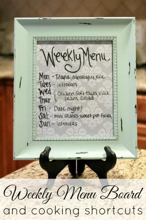 Weekly-Menu-Board houston city moms blog